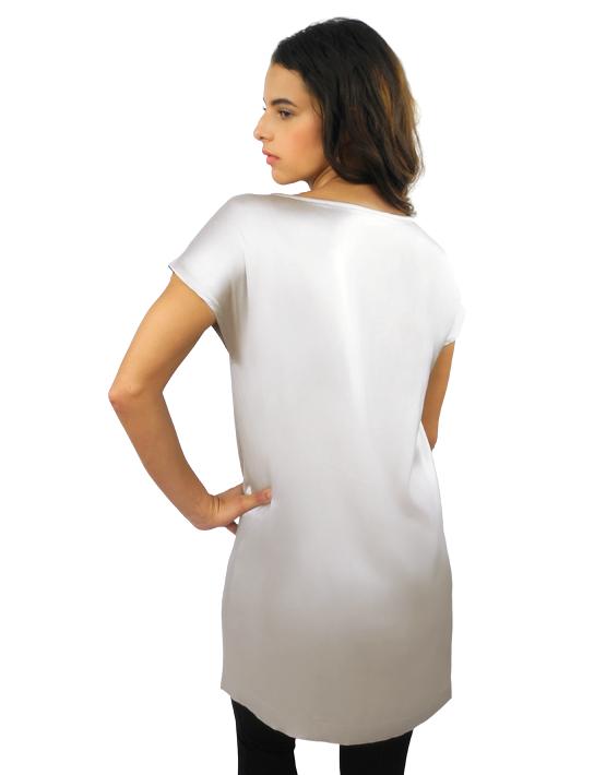 finest selection dde83 edee0 Tunikakleid mit Handzeichnung Weiß